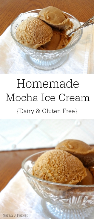 Celebrate summer with this dairy free Homemade Mocha Ice Cream! This is gluten free, vegan, and simple to make (not to mention super delicious!) - @TheFitCookie