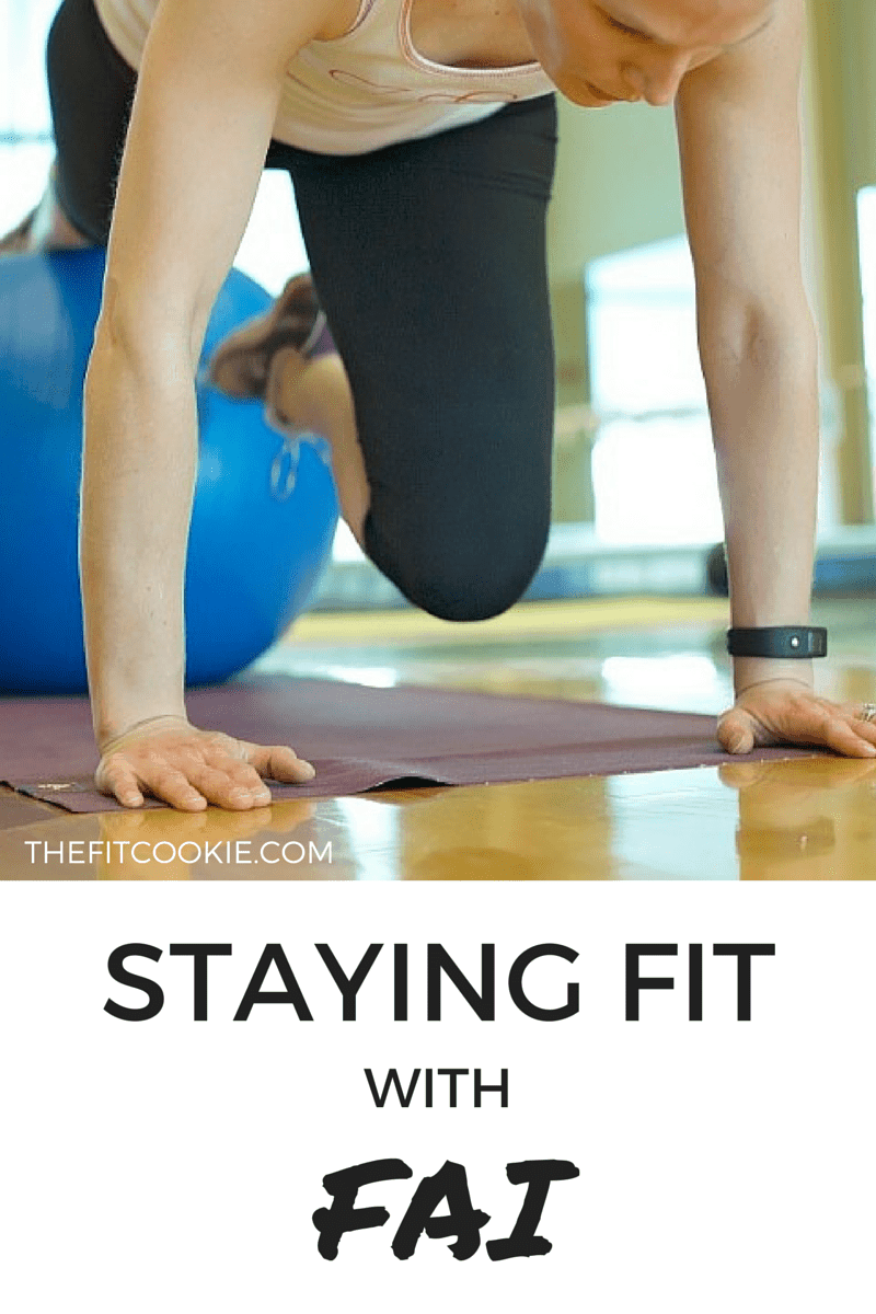 Staying Fit with FAI and my journey with hip pain - #fai #health #fitness @TheFitCookie