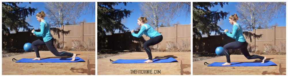 Alternating lunges: HIIT the Weights Workout #fitness #workout #fitfluential #HIIT @TheFitCookie