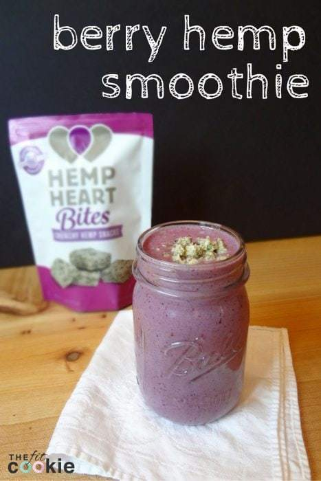 Drink the Rainbow: Berry Hemp Smoothie