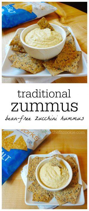 Traditional Zummus (Bean Free Zucchini Hummus)