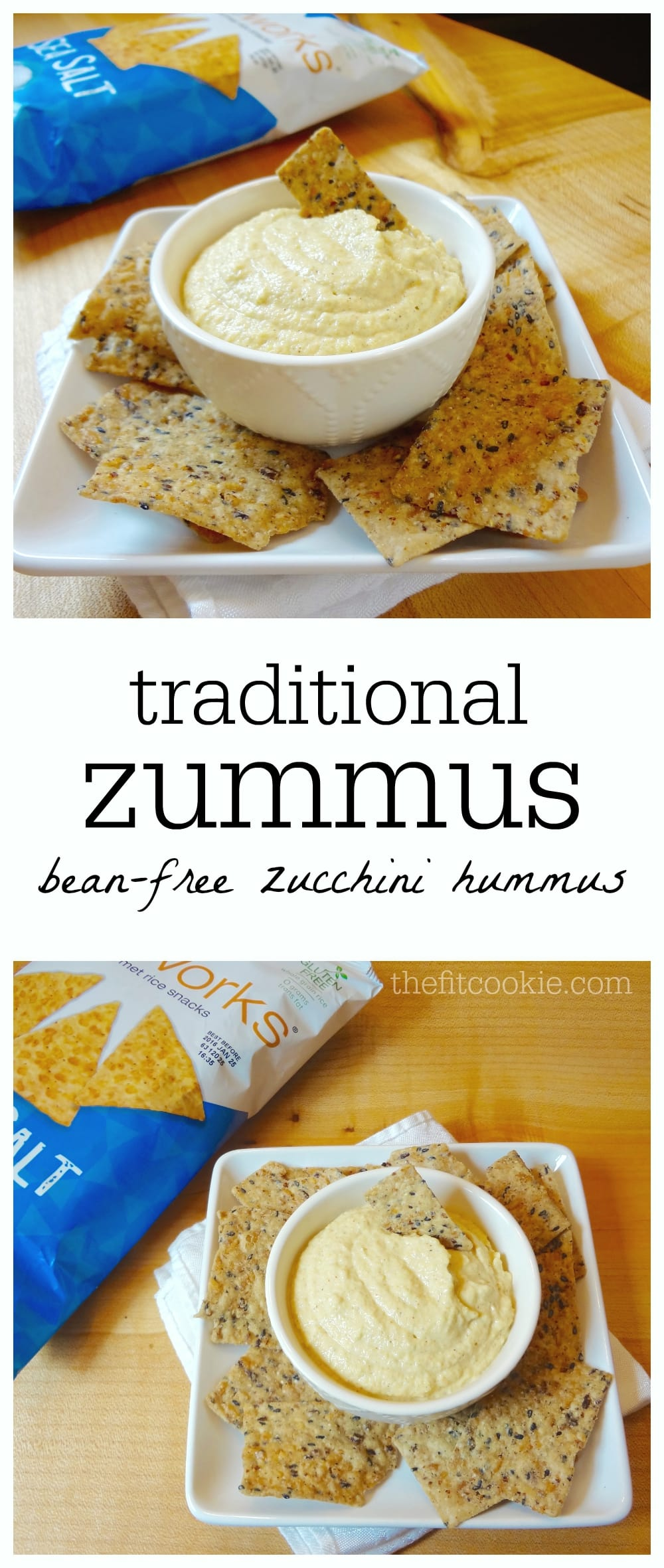 Traditional Zummus (Zucchini Hummus) recipe - {AD} @Walmart #gfwalmart @Riceworks #glutenfree #vegan #allergyfriendly #recipe