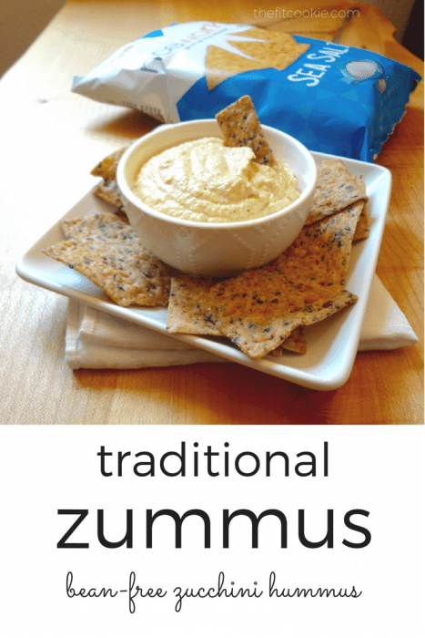 Zucchini bean-free hummus (zummus) by The Fit Cookie