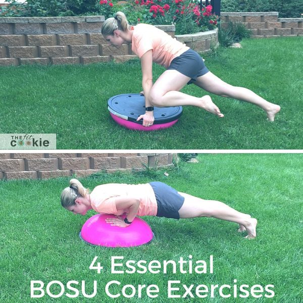 4 Essential BOSU core exercises - @TheFitCookie @BOSUFitness @FitApproach #sponsored #sweatpink #exercise #fitness #BOSUstrong
