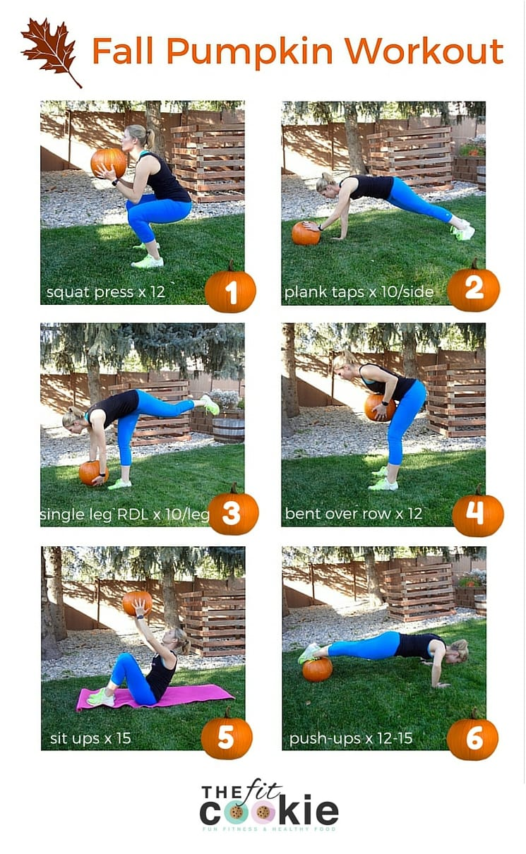 Celebrate the coming of fall and pumpkin season with this fun Fall Pumpkin Workout you can do just about anywhere!  - #ad @Flonase @TheFitCookie #workout #fall #fitness #exercise