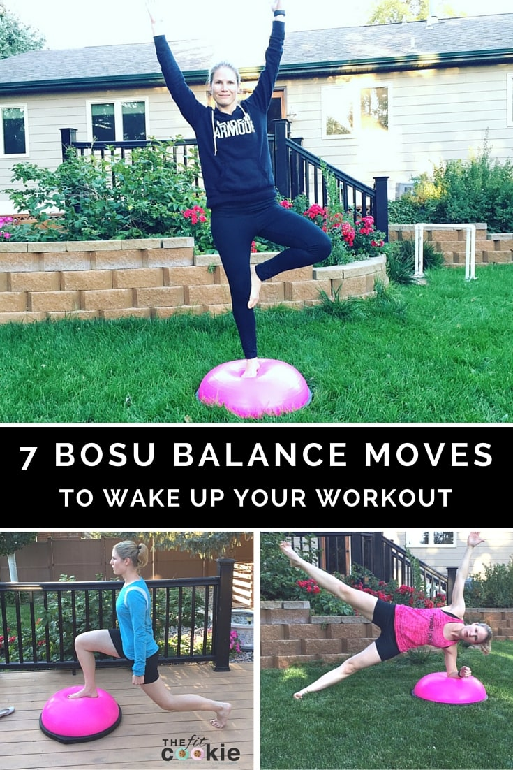 7 BOSU Balance Moves to Wake Up Your Workout #ad @BOSUfitness @FitApproach #BOSUstrong #sweatpink #fitness