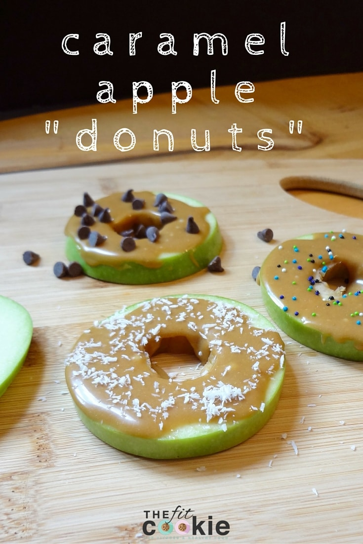 "Caramel Apple ""Donuts"" – the perfect healthy fall treat! #recipe #glutenfree #grainfree #dairyfree"