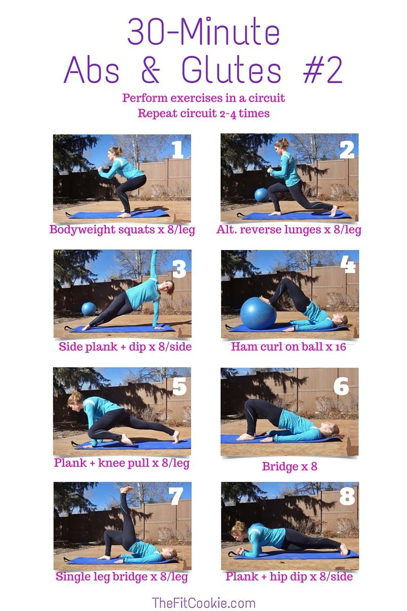 30-Minute Abs & Glutes Workout #2 #workout #fitness #exercise @TheFitCookie