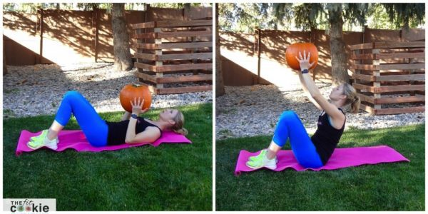 Weighted sit-up - HIIT the Weights Workout #2 - @TheFitCookie #workout #fitness #fitfluential
