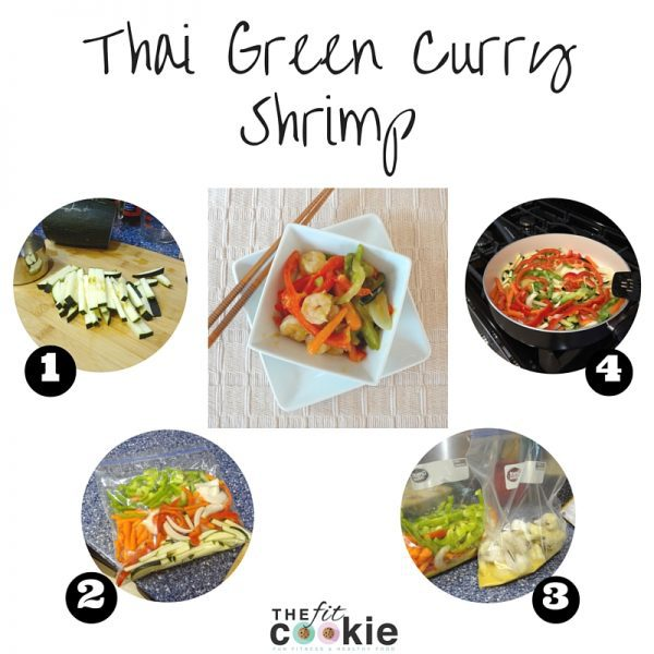 Thai Green Curry Shrimp recipe - @TheFitCookie #threciperedux #glutenfree #entree #freezermeal