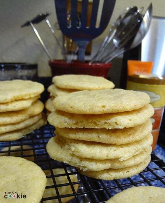 Easy No-Chill Vegan Sugar Cookies - #cookies #recipe #fitfluential #vegan #nutfree #eggfree #dairyfree