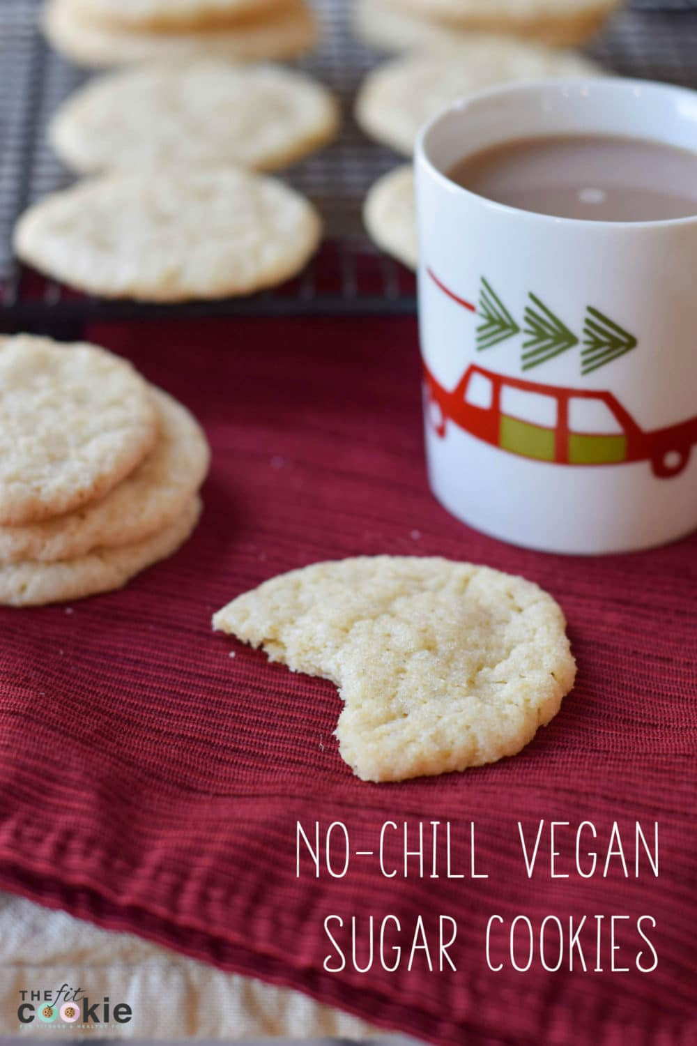 These No-Chill Vegan Sugar Cookies are the perfect treat for parties or school treats! They are easy to make (no more chilling dough!) and have no eggs, dairy, soy, tree nuts, peanuts, or coconut - @TheFitCookie #cookies #vegan #nutfree
