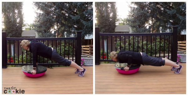 Total-Body BOSU Workout {and BOSU Review} - #ad @bosu_fitness #sweatpink @fitapproach #BOSUstrong #workout