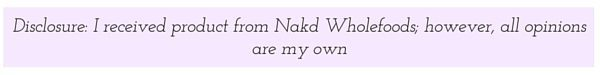 Disclosure: I received free product from Nakd Wholefoods, however all opinions are my own