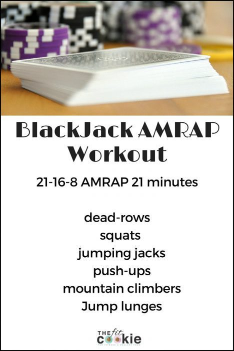 BlackJack AMRAP Workout: check the blog post for the full workout details! #workout #fitfluential #fitness