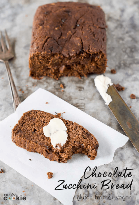 Chocolate Zucchini Bread (Gluten Free & Vegan)