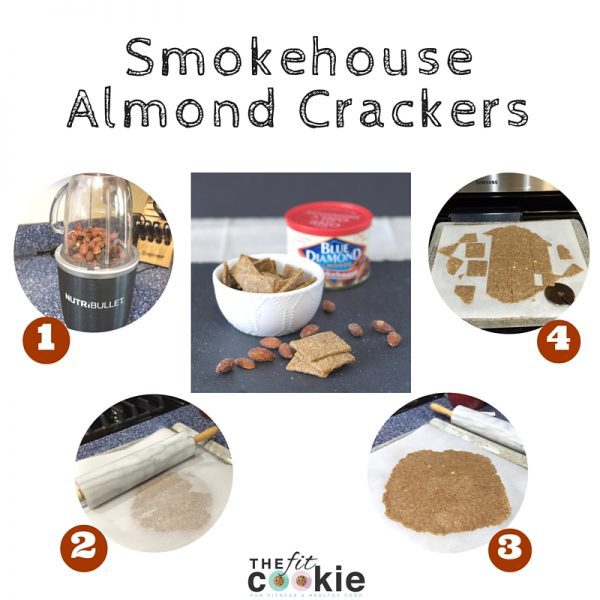 Making your own gluten free and dairy free crackers is easy! These savory Smokehouse Almond Crackers are the perfect snack for game days - @TheFitCookie #vegan #recipe #glutenfree