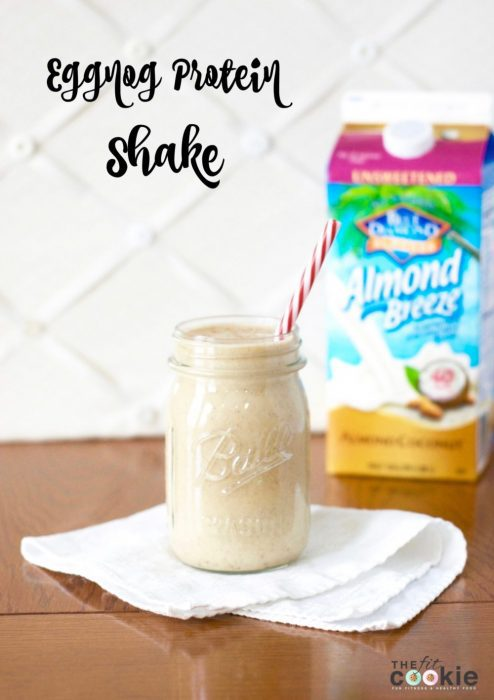 Eggnog Protein Shake - The Fit Cookie