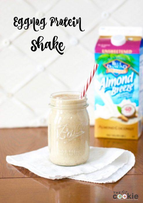 Eggnog Protein Shake (Gluten Free and Vegan)