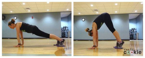 glider pike: 30-Minute Abs and Glutes Circuit - @thefitcookie #workout #fitness #fitfluential #sweatpink