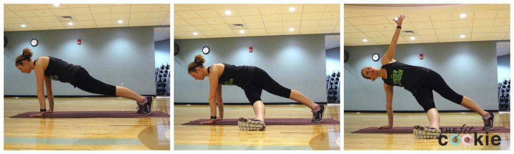 plank sweep: 30-Minute Abs and Glutes Circuit - @thefitcookie #workout #fitness #fitfluential #sweatpink