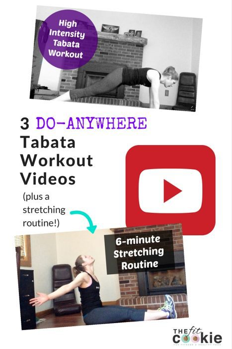 3 Do-Anywhere Tabata Workout Videos & stretching video - @TheFitCookie #video #fitness #workout #fitfluential #sweatpink