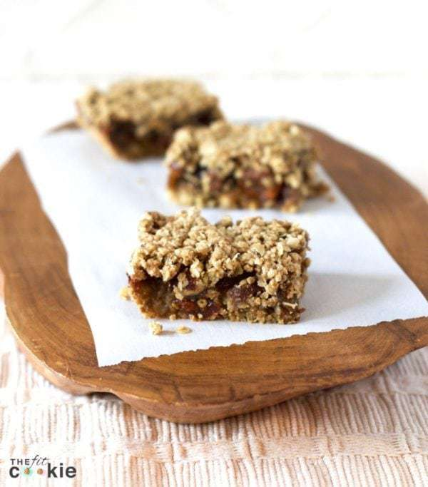 Golden Berry Date Bars are a delicious snack and dessert that's a bit lower in sugar than some traditional date bars, plus these are gluten free, vegan, and peanut free!  - @thefitcookie #glutenfree #vegan #recipe