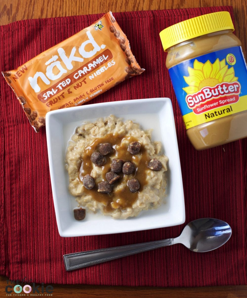 Shake up your breakfast! Make some Salted Caramel Oatmeal - it's #glutenfree and #vegan! - @thefitcookie #recipe #cleaneating #fitfluential