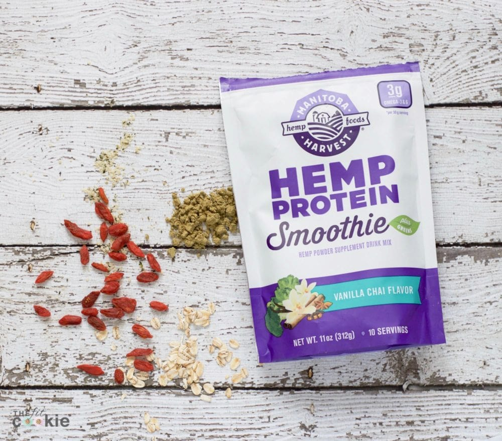 packet of vanilla hemp protein smoothie