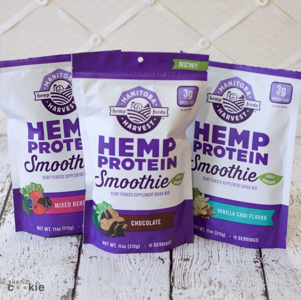 packages of manitoba harvest hemp protein smoothie powders