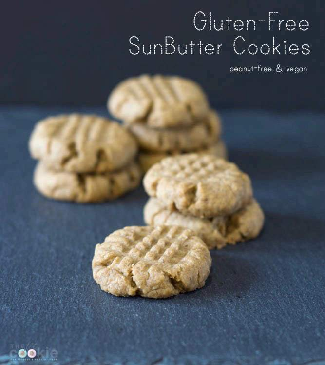Gluten-Free SunButter Cookies - @thefitcookie #glutenfree #vegan #recipe #peanutfree #fitfluential