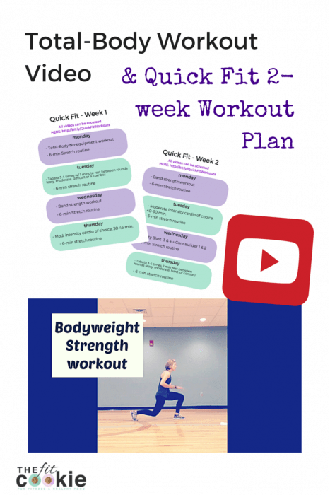 Want to get in shape? Here's a new bodyweight workout video and a 2-week Quick Fit workout plan! - @thefitcookie #workout #fitness #fitfluential |thefitcookie.com|