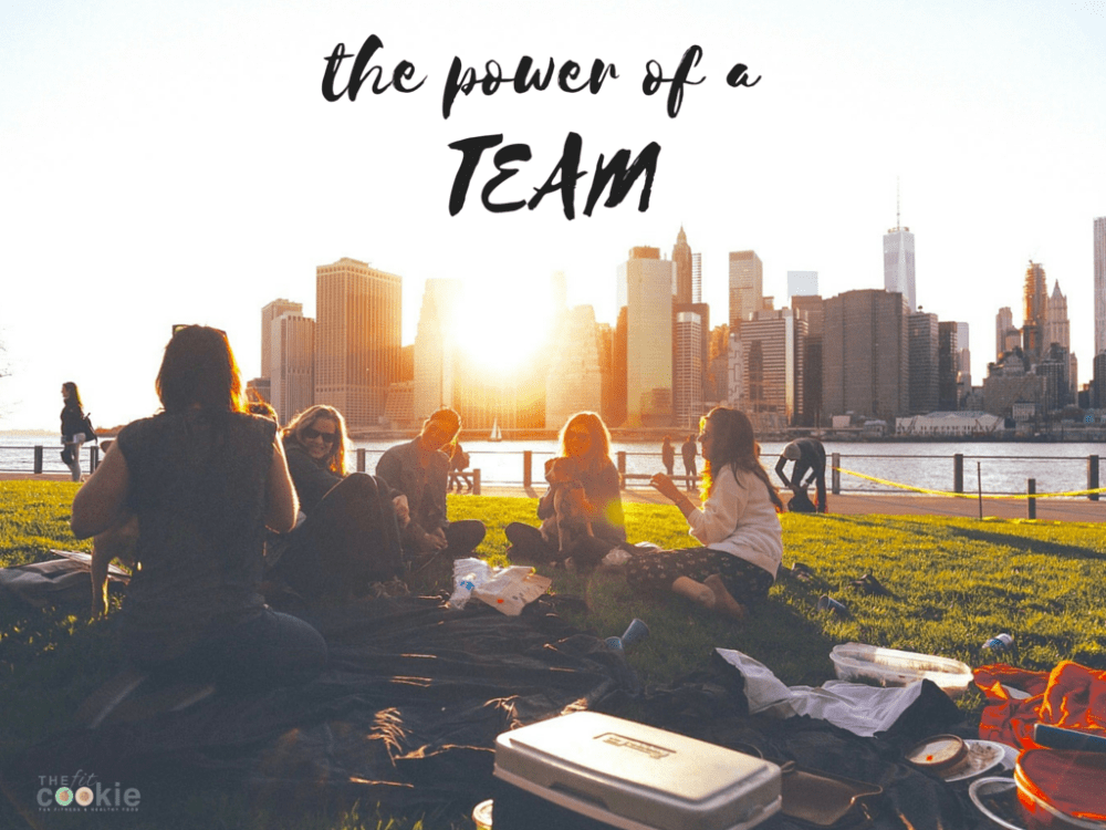 The Power of a Team: Sometimes you need a team to reach your goals! - @thefitcookie #fitfluential #health #sweatpink