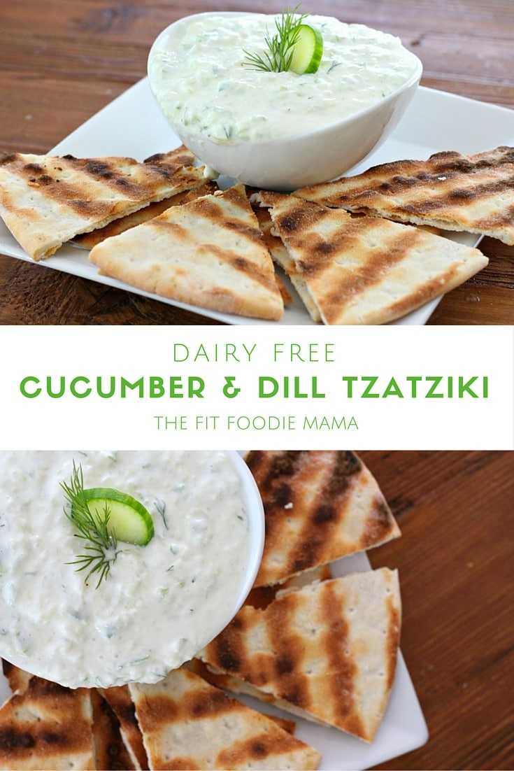 Dairy-free Cucumber & Dill Tzatziki from Fit Foodie Mama - 10 Best Healthy Food Blogs - @thefitcookie #food #recipes #fitfluential #healthy #allergyfriendly