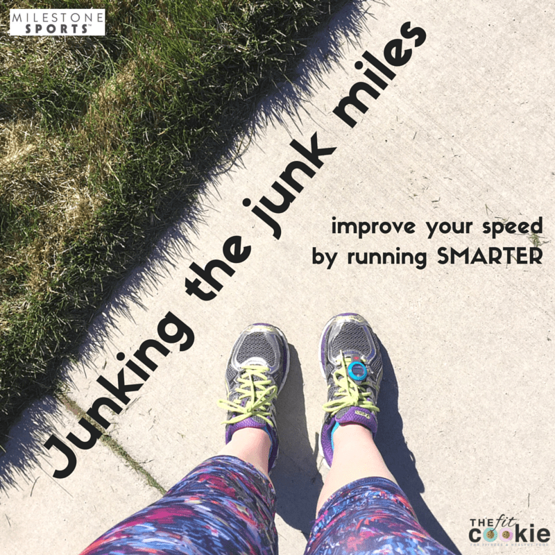 Want to improve your running? Start junking the junk miles and learn to run faster by running SMARTER and with more intention and planning - @TheFitCookie #ad #running #fitness #fitnesstips