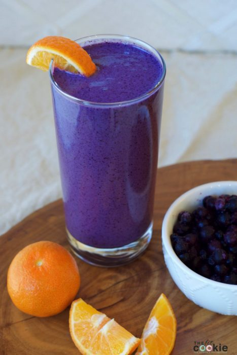Creamy Blueberry Orange Smoothie - @TheFitCookie #smoothie