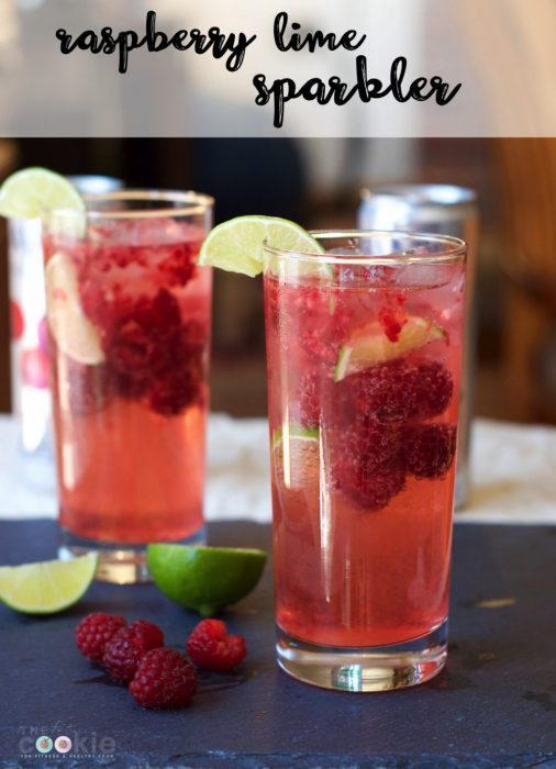 Top 15 Posts of 2016 from The Fit Cookie: Cool Raspberry Lime Sparkler - @TheFitCookie