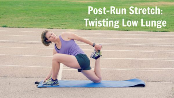 Post-Run Stretch: Twisting low Lunge Variation
