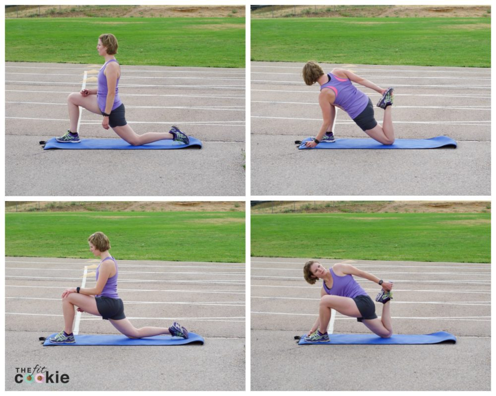 Once you're done with your run, don't forget to cool down and stretch! Here's one of my favorite post-run stretches with variations