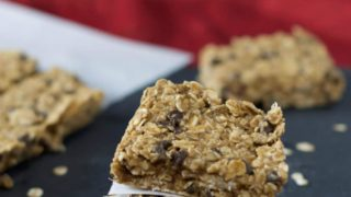 No Bake Chocolate Chip Oat Bars (Gluten Free and Vegan)