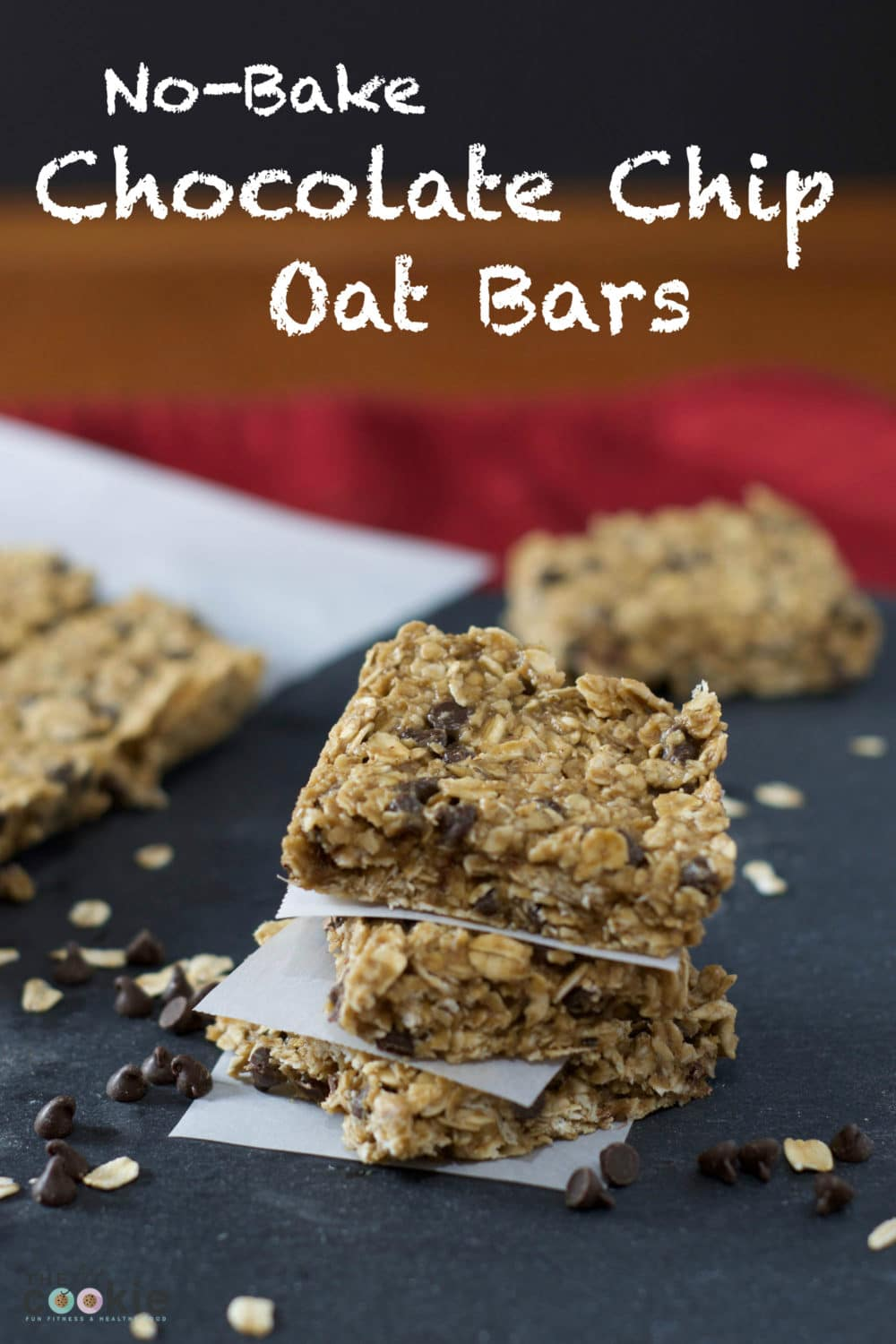 The perfect after-school sweet treat: No-Bake Chocolate Chip Oat Bars - #ad @BobsRedMill @thefitcookie #BRMOats #glutenfree #vegan