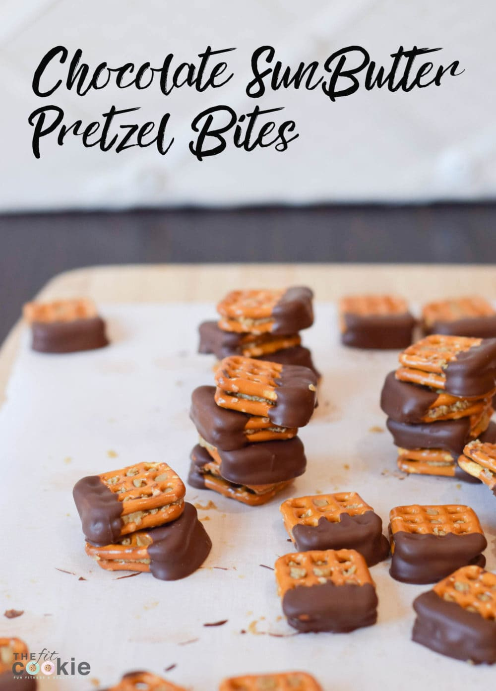 Need peanut-free snacks for school? Make these Chocolate SunButter Pretzel Bites with Snyder's of Hanover (now peanut-free!) - #sponsored #peanutfree #snacks #PretzelBaby