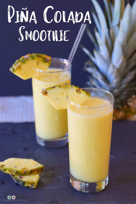 Piña Colada Smoothie - #smoothie #vegan #gutenfree