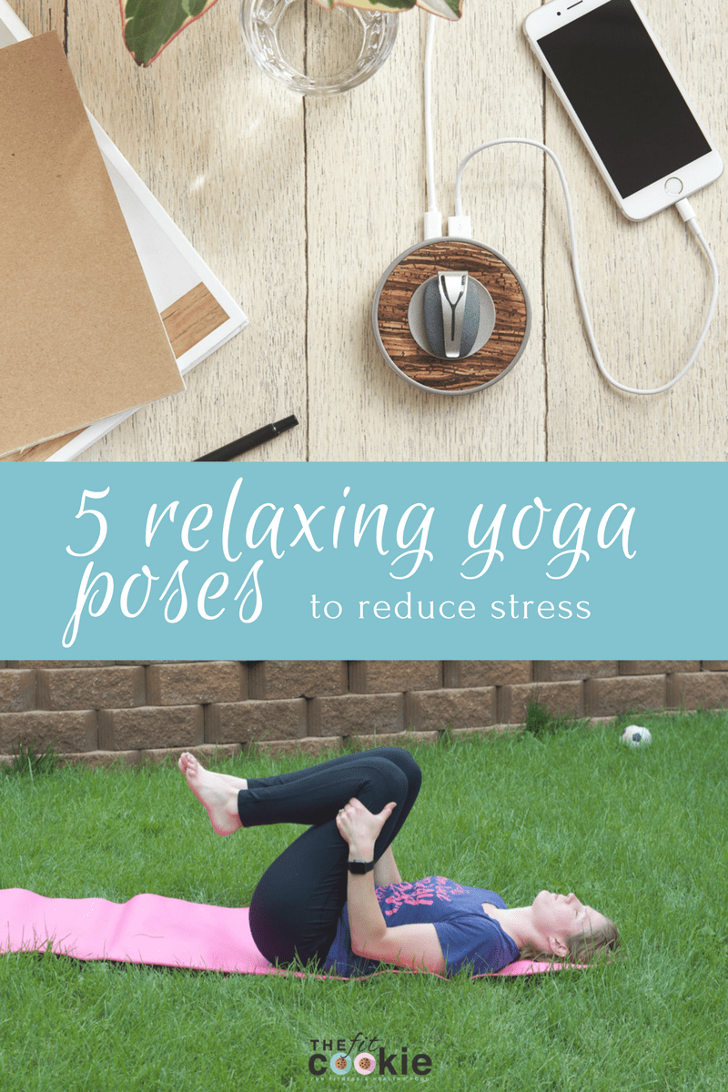 5 Relaxing Yoga Poses to Reduce Stress - @thefitcookie #ad #inSpire #yoga