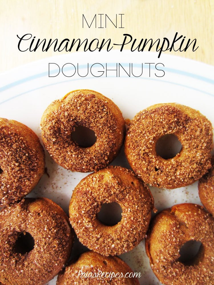 Mini Cinnamon Pumpkin Doughnuts - Raias Recipes