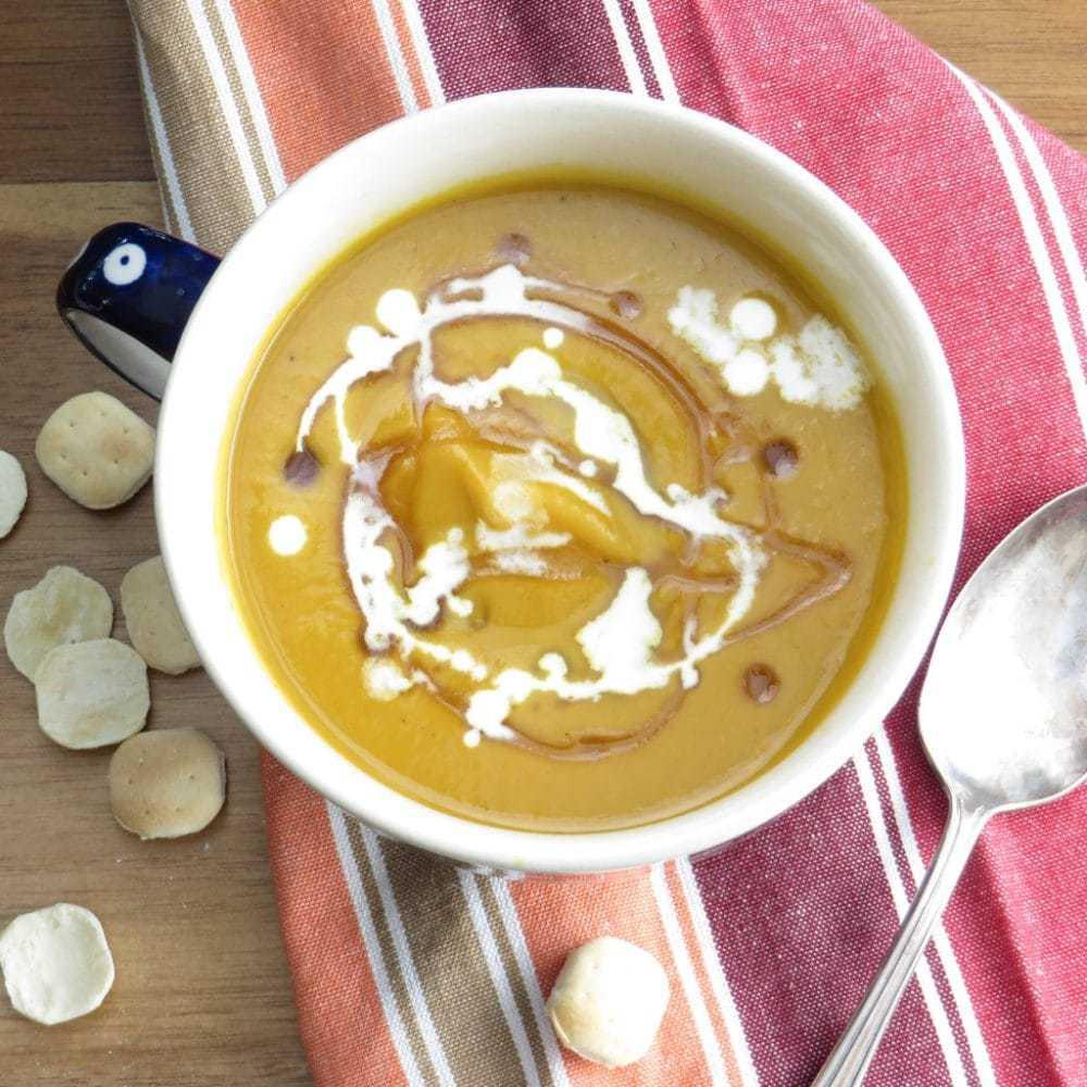 Curried Pumpkin Soup - Garlic and Zest