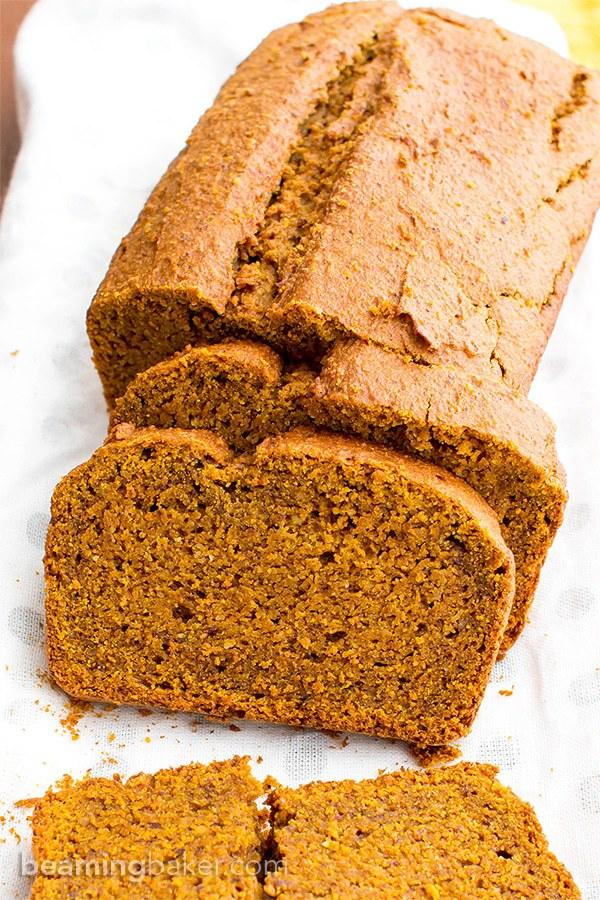 One Bowl Gluten-free Vegan Pumpkin Bread - Beaming Baker
