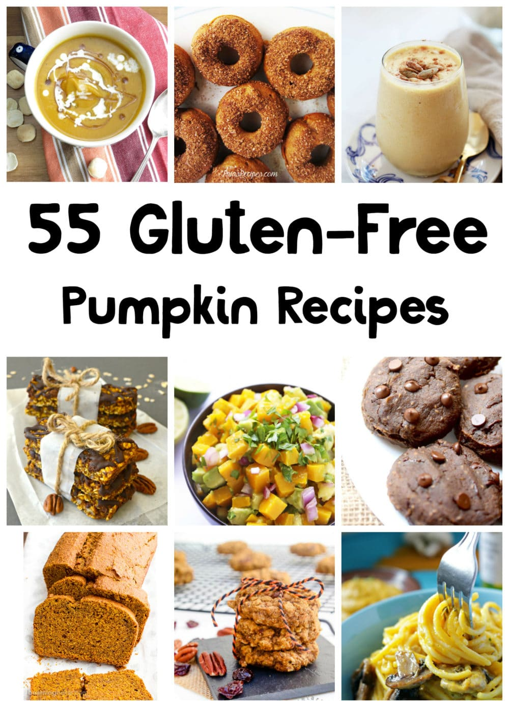 55 Gluten-Free and Dairy-Free Pumpkin Recipes (many of these are vegan and nut-free too!) - @thefitcookie #recipes #pumpkin #fall #glutenfree