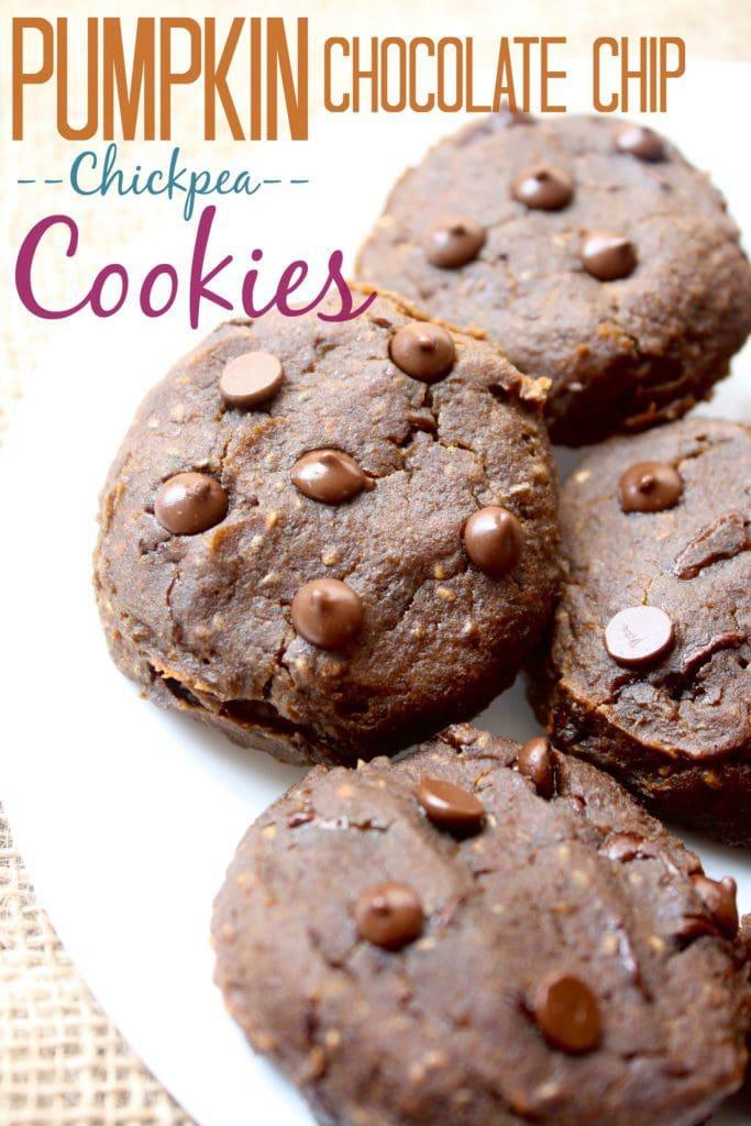 Pumpkin Chocolate Chip Chickpea Cookies - Fit Mitten Kitchen