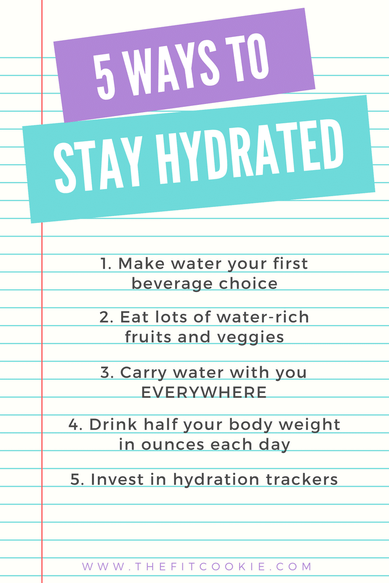 5 ways to beat dehydration - @thefitcookie #nutrition #health